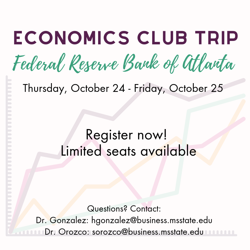 Economics Club Trip flyer