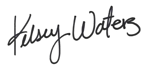 Kelsey Waters' signature